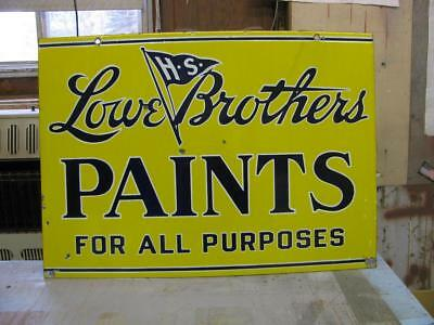 Lowe Brothers Paints double sided porcelain sign