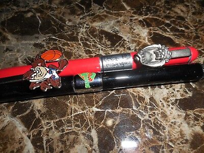 "Lot of 2 Taz-1996-97 Warner Bros. ""Looney Tunes"" Collectible Ink Pen Pens NR"