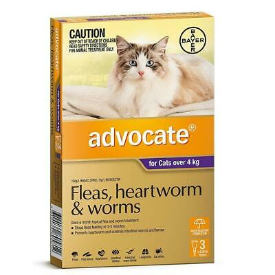NEW Advocate For Cats Over 4Kg Purple 3 Pack