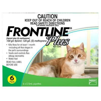 NEW Frontline Plus For Cats Green 6 Pack
