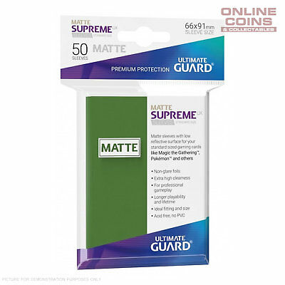 Ultimate Guard SUPREME UX MATTE Standard Card Sleeves - GREEN - Pack of 50