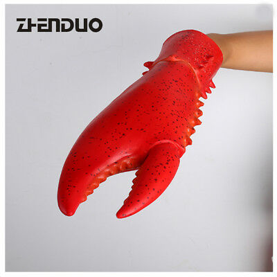1 Set Funny Latex Lobster Crab Claws Cosplay Costume Gloves Animal Props