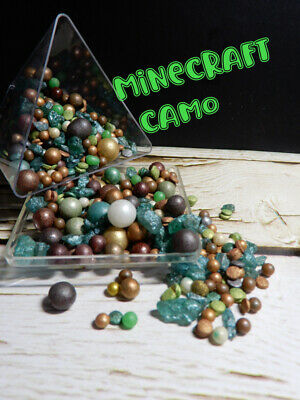 Jungle Camouflage Greens Black Golds Jumbo Size Mix Cake Sprinkles Cupcake White