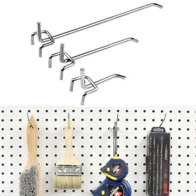 "100pc Metal Peg Board Pegboard Hooks 2"" 4"" 6"" Garage Work Shop Storage Display"