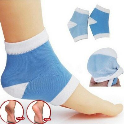 1Pair Reusable Moisturizing Silicone Gel Heel Socks Cracked Foot Care Protectors