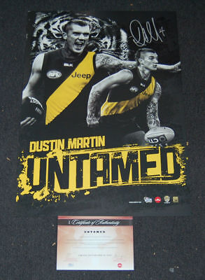 Dustin Martin Richmond Tigers Signed Untamed Afl Limited Edition Print Brownlow