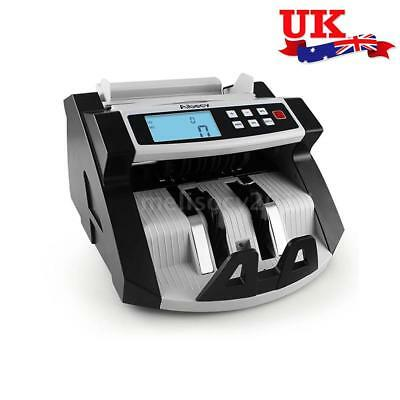 Pro Bill Counter Machine Cash Bank Counting Fake Money Counterfeit Detector A1D9