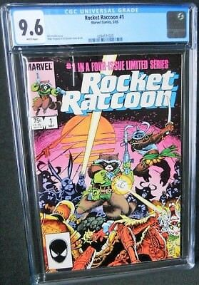cgc 9.6 ROCKET RACCOON #1 MARVEL 1985 White pages nm+ Limited Series MIGNOLA