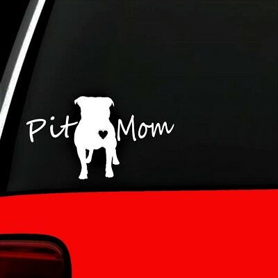 Pit Mom Pit Bull Pitbull Dog Decal Sticker Pet Gift Accessory