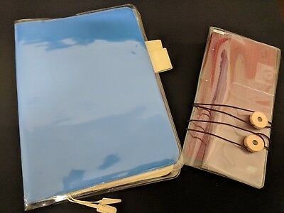 Hobonichi A6 Sky Blue Cover + A6 & Weeks Clear Covers + Bookmarks + Rivet Bands
