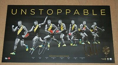 Dustin Martin Richmond Tigers 2017 Afl Brownlow Hand Signed Unstoppable Print