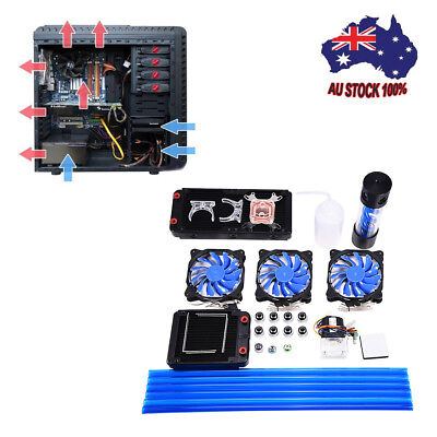 PC 240mm Reservoir Pump + Radiator Complete Kit for Water Liquid Cooling