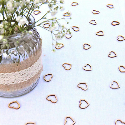 Hollow Rustic Decorations Wedding Table Confetti Small Wooden Hearts Love Funny