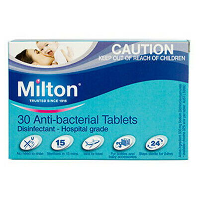 NEW Milton Antibacterial 30 Tablets