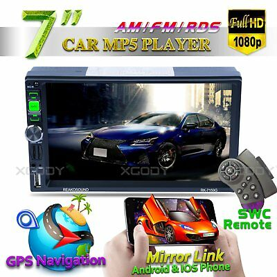 """7"""" Car Stereo Radio 2 DIN Bluetooth MP5 Player HD Touch Screen AUX Navigation"""