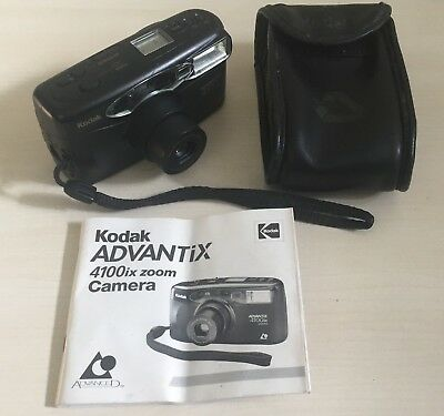 KODAK ADVANTIX 4100ix ZOOM COMPACT 35mm CAMERA - WITH FILM & CASE LOMO