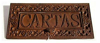 Boca cartas hierro fundido. Medida: 25x12x7cm.Color:marron oxido