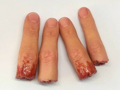 Horror movie prop silicone severed pinky finger film quality gore splatter spfx