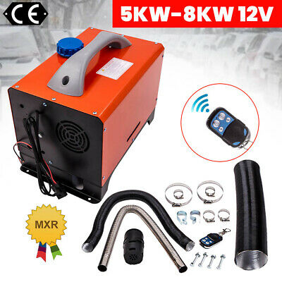 12V 5KW Diesel Air Heater Tank Vent Duct Thermostat Caravan Motor RV Knob switch