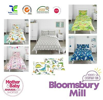 Childrens Kids Duvet Cover & Pillowcase Set - Single, Double & Toddler Cot Bed