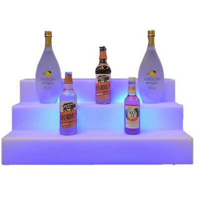 LED Bar Bottle Display Shelves - Illuminated Bar Display Units - NEW - 3 Step