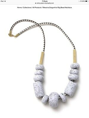 Emily Green Big Bead Dragonfruit Messina Necklace
