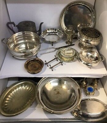 Joblot Of Antique Silver Plate - Top Quality Mixed Lot - TOP MAKERS - VARIETY.