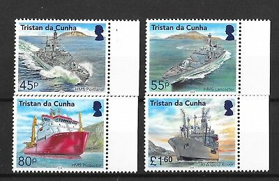 Tristan da Cunha 2018 NEW ISSUE Visiting Royal Navy Ship's  MNH/UMM