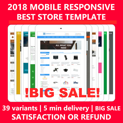 Ebay Store Template Shop Front Design Responsive Mobile Html Professional 2018