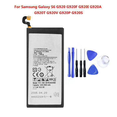 Brand NEW OEM Replacement 2550mAh Li-ion Battery for Samsung Galaxy S6 G920