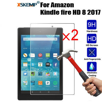 2x Genuine Gorilla Tempered Glass Screen Protector For Amazon Kindle fire Tablet