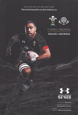 * WALES v GEORGIA - INTERNATIONAL RUGBY PROGRAMME (18th November 2017) *