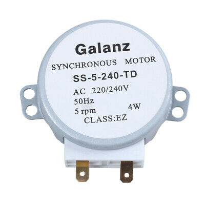 CW/CCW 4 W 5 rpm,microwave oven turntable motor synchronous AC 220 V/240 V U4P6