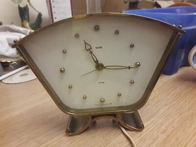 VINTAGE  '' SMITHS SECTRIC '' BRASS ELECTRICAL CLOCK rare example.