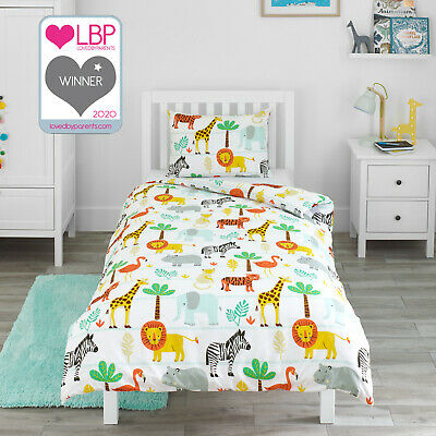 Jungle Safari Adventure Childrens Boys Girl Bedding Duvet Cover & Pillowcase Set