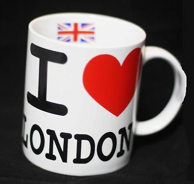 I Love London UK Mug England Gifts Souvenirs Saucer Home Tea Coffee Table