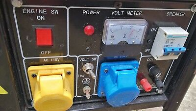 BL168 Petrol Generator 240v/110v - Used and Working