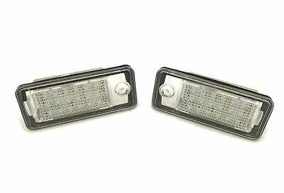 Fits Audi A8 03-07 18 Smd LED Rear Number Licence Plate Units Spare Part Replace
