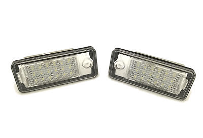 Fits Audi Q7 07-09 18 Smd LED Rear Number Licence Plate Units Spare Part Replace