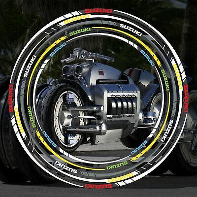 "Motorcycle Wheel Rim Tape stickers decal SUZUKI  17""  18"""