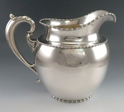 c1890s Handsome Goodnow & Jenks Sterling Silver Water Pitcher 64oz