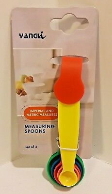 New Measuring Cup Spoons Set 5 Piece Imperial & Metric Measures