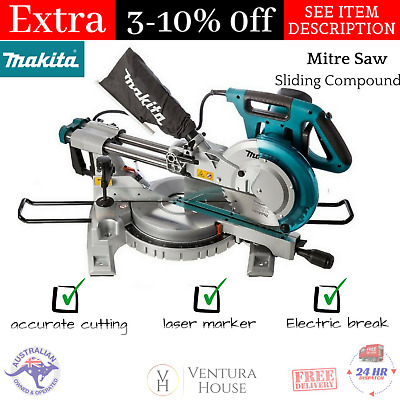 NEW Makita 1430W Slide Compound  260mm 10″  Electric Laser Marker Mitre Saw