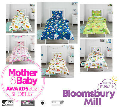 Toddler Bedding Duvet Cover & Pillowcase Set Childrens Kids Boys Girls Cot Bed