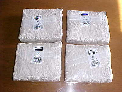 """New Lot 4 Rubbermaid V11700WH00 Wet Mop Value Pro #20 Cotton 1"""" Band Commercial"""