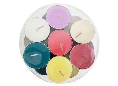 Set 21 candeline tea light cod. 6615 multicolor esterno feste party matrimonio