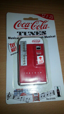 Coca-Cola tunes musical magnet #51505  RED COKE MACHINE - battery probably bad