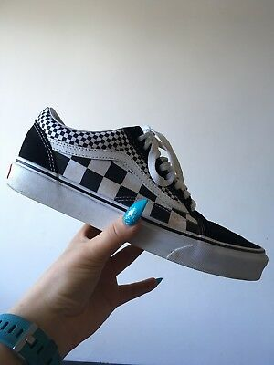 526180b14d VANS MIXED CHECKERBOARD Check Old Skool Trainers 8 - £27.00 ...