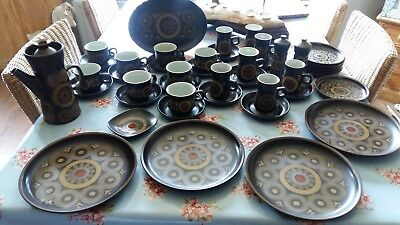 Denby pottery arabesque collection coffee pot plates cups saucer's late cup