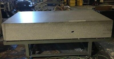 "True Stone 5' x 8' x 16"" Granite Surface Plate With Stand"